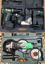 Hitachi 18v Drill,Torch,Charger,2 Batt,Hitachi 100 mm Grinder Browns Plains Logan Area Preview