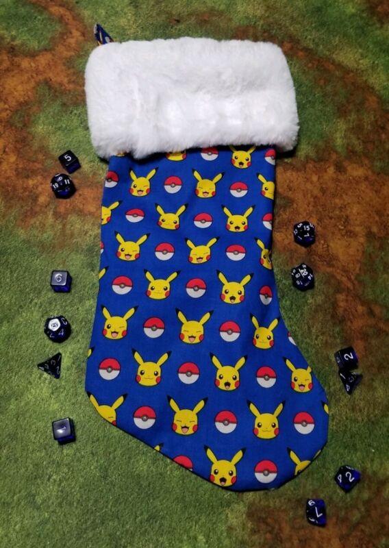 Pokemon Pikachu and Balls Christmas Stocking