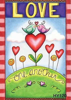 Love Birds Garden Flag (12X18