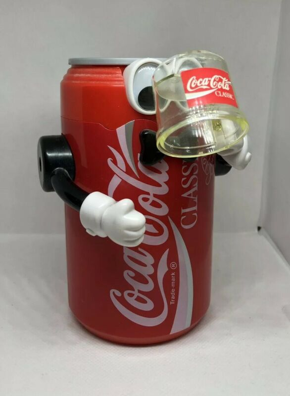 Vintage Coca-Cola Classic Soda Coke Can Robot Mechanical Action Bank 1992