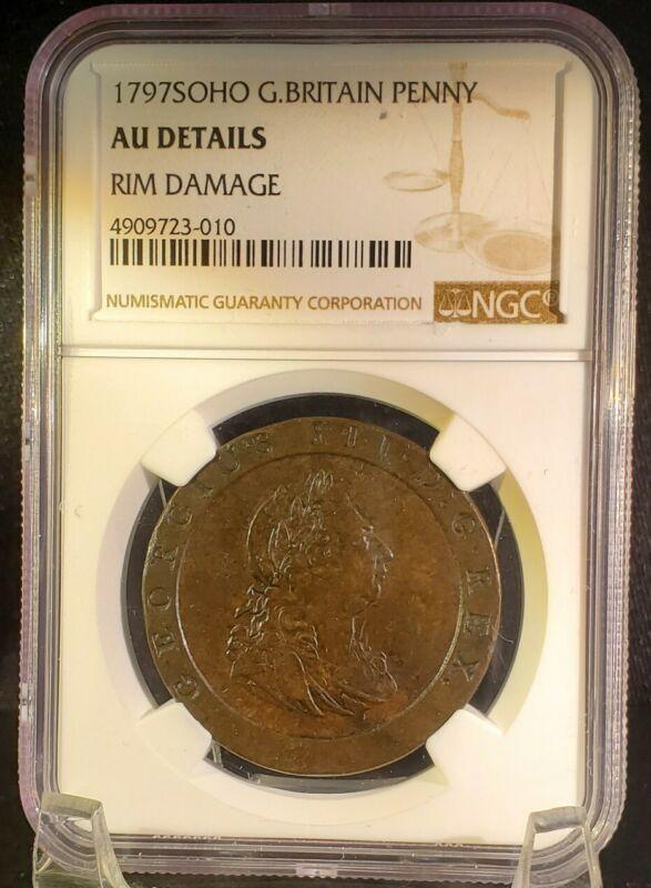 1797SOHO Great Britain Penny NGC AU Details