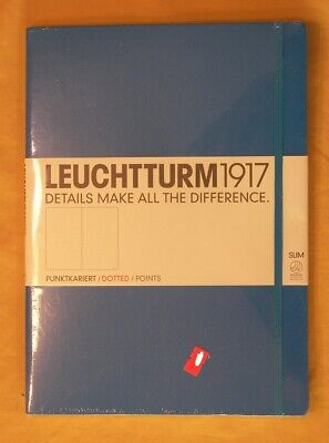 Leuchtturm1917 Hard Cover Master Slim A4 Notebook Nordic Blue Dotted 121 Page