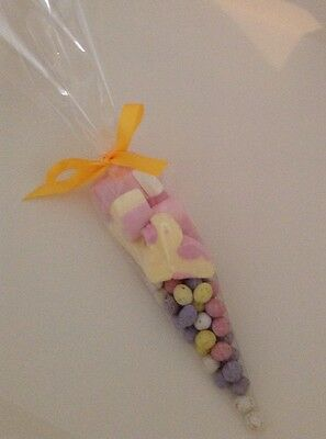 Easter Gift Mini Egg Sweet Cone Personalised Marshmallows Novelty Gift