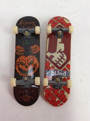 Tech Deck Mini Skateboard Finger Board Lot of Two (2) World Industries