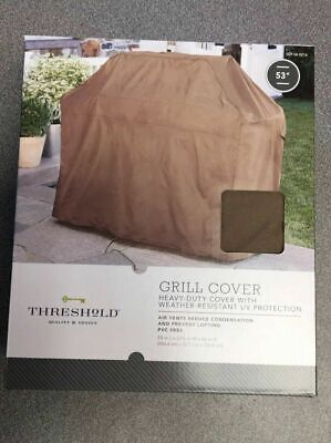 "THRESHOLD QUALITY & DESIGN GRILL COVER 53"" HEAVY-DUTY WITH WEATHER-RESISTANT"