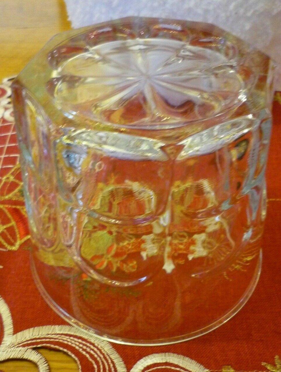 Seau a glacons en verre vintage pince a glacons glace ice cube glass bucket