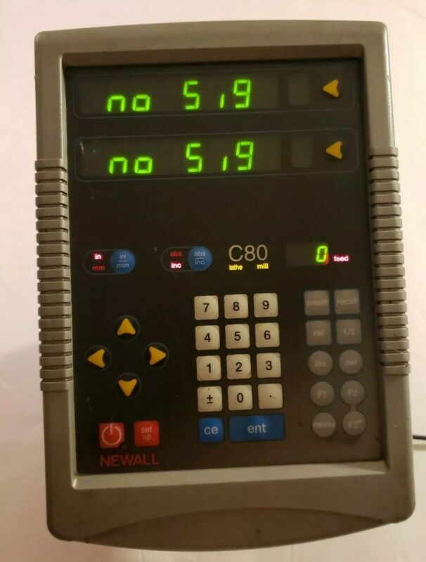 Newall C80 DRO Digital Readout Unit Mill Lathe 2 axis C8020002