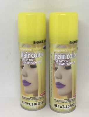 Lot of 2 GOODMARK Temporary YELLOW Spray On Shampoo Out Hair Color 3 Oz (Yellow Hair Spray)