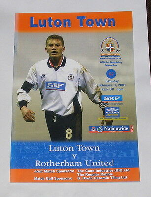 Luton Town -v- Rotherham United  2000-2001