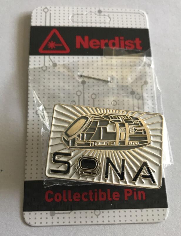SDCC Nerdist Alpha House Sona Enamel Collectible Lapel Pin New Ashley Clements