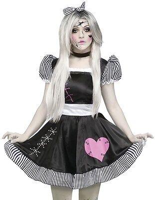 Ladies Broken Dead Doll Halloween Fancy Dress Costume Outfit UK 10-26 Plus Size (Halloween Fancy Dress Plus Size Uk)