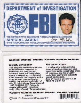 the X-Files  Agent Fox Mulder Drivers License Halloween Costume attire badge id (Mulder Halloween Costume)