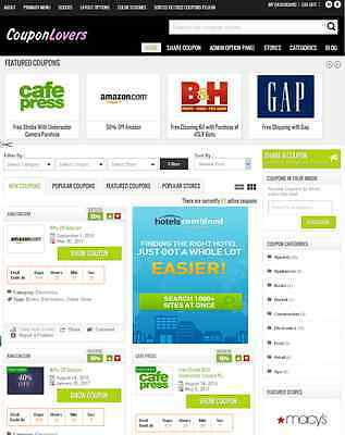 Coupon Website (Coupons Deals Affiliates WebSite   - Free Installation + Hosting +)