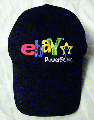Ebay 2006 Black Hat Baseball Cap Embroidered Original Old Logo Collectible
