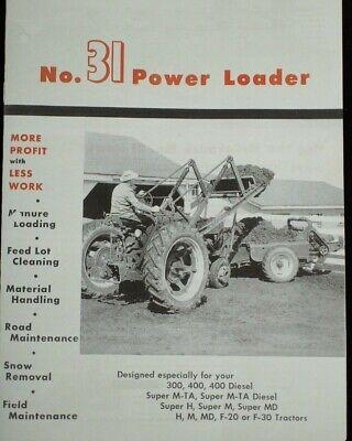 Ih Farmall H M 200 300 31 Power Front End Loader Brochure W Grader Manure Scoop