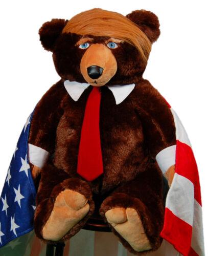 Trumpy Bear super plush bear with Flag-Themed blanket 🐻