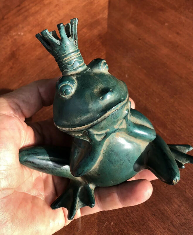 Good Luck Prosperity King Frog 100% Grade A Bronze Statue