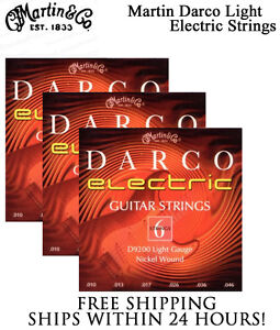 Sets Martin Darco D9200 Light Nickel Wound Electric Guitar Strings ...