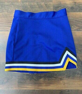 Varsity Spirit Blue , Yellow , Black & White Cheerleader Skirt size YXS