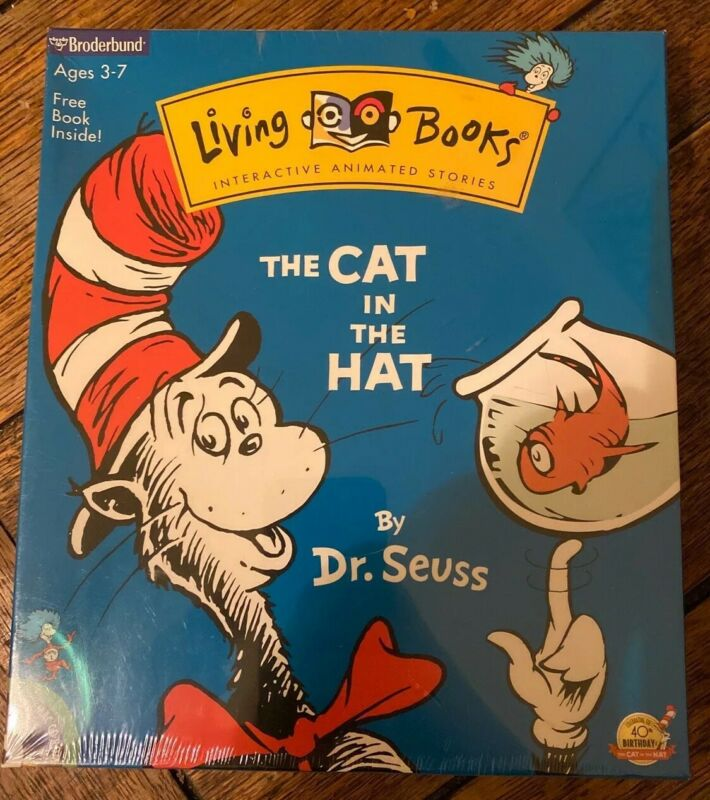 The Cat in the Hat CD-ROM (1997) Broderbund Living Books Sealed Brand New