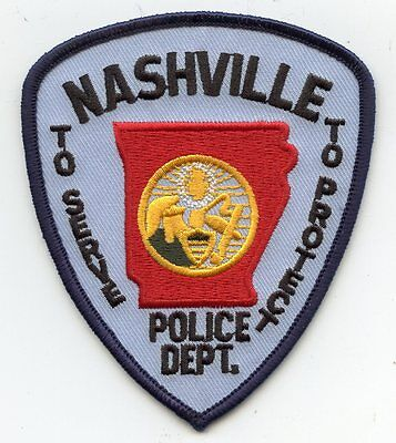 NASHVILLE ARKANSAS AR POLICE PATCH