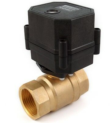 1 Npt Motorized Ball Valve Brass Multi-volt 9v 12v 24v Acdc 2-wire Nc