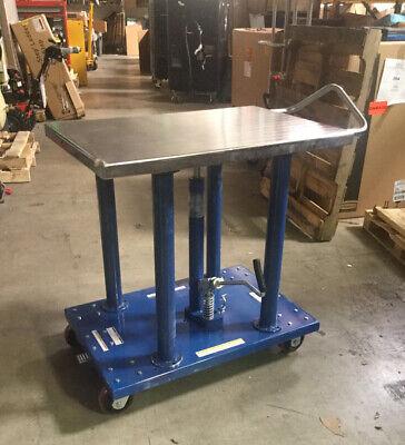 Vestil Manual Mobile Post-lift Table Ht-20-2436a 2000 Lb Load Cap 36 X 24