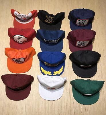 Vintage 80s USA Trucker Trucking Machine Co Random Snapback Hat Lot 12