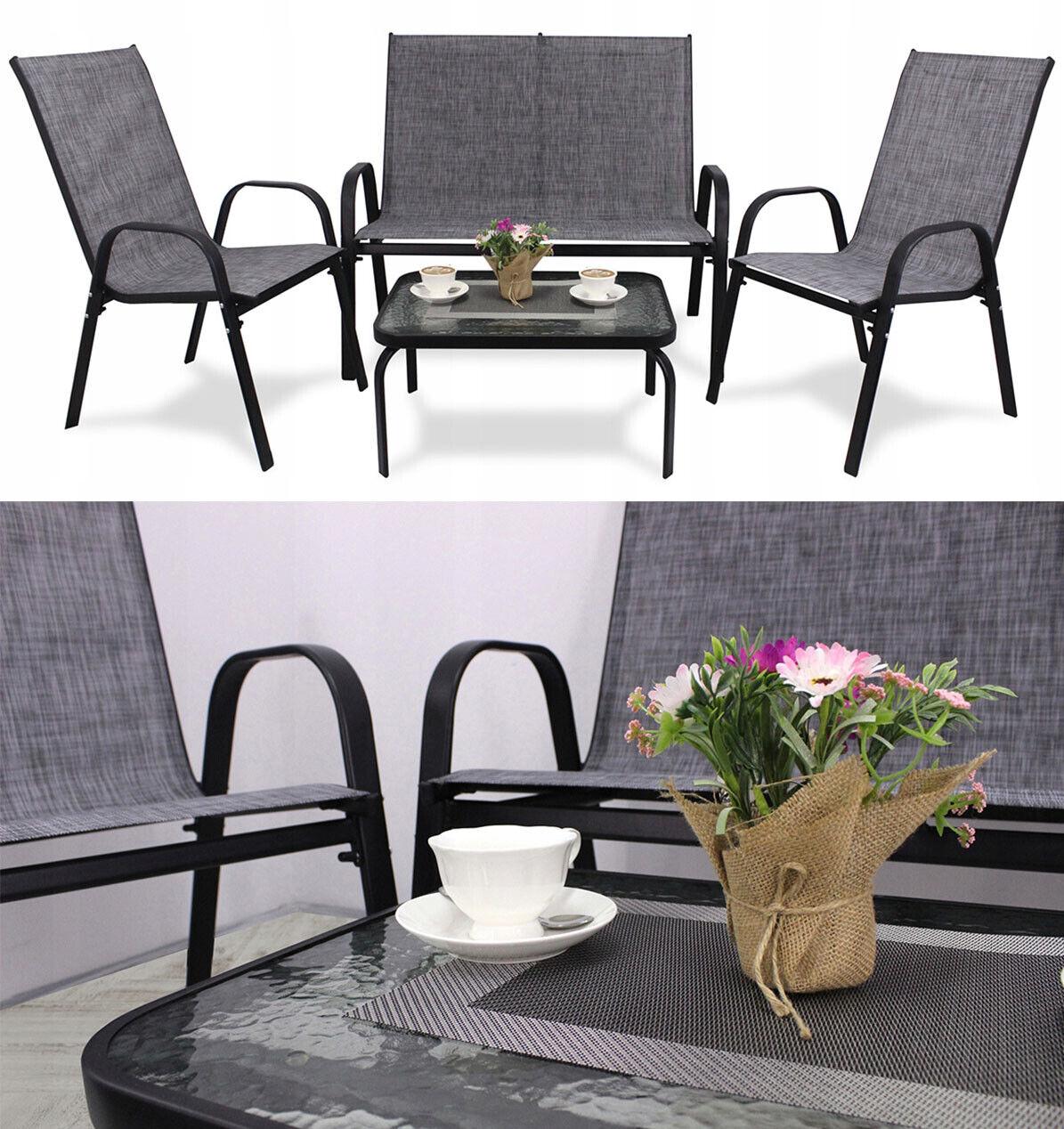 Garden Furniture - A set of garden furniture - sofa + table + chairs