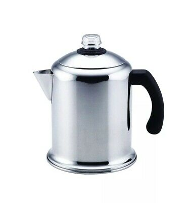 Heavy Duty Stove Top Percolator Yosemite Coffee Pot Maker 8-Cup Stainless Steel Stainless Coffee Pot