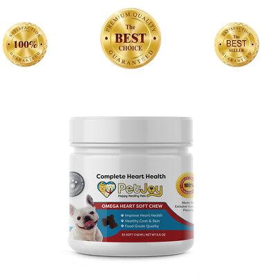 Omega-3 Fatty Acids EPA DHA Vitamin E Skin Coat Heart Dog Chews Supplement