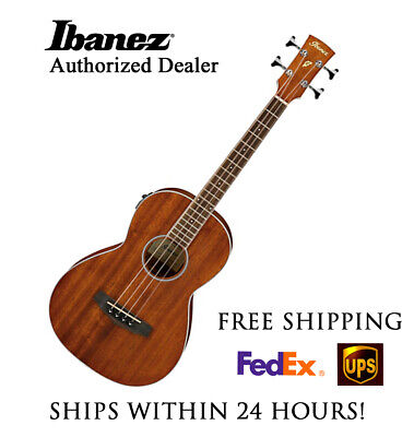 **IBANEZ PNB14E PARLOR ACOUSTIC-ELECTRIC BASS GUITAR NATURAL**