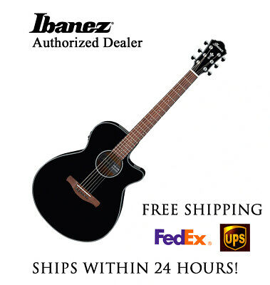 **IBANEZ AEG50BK BLACK ACOUSTIC ELECTRIC GUITAR - FREE SHIPPING**