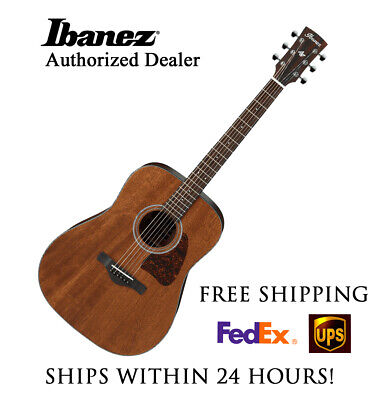 **IBANEZ AW54-OPN ARTWOOD DREADNOUGHT ACOUSTIC GUITAR - FREE SHIPPING**