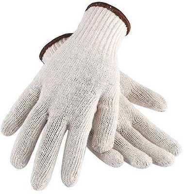 White String Knit Warehouse Gloves Cotton Polyester Medium Duty Liner Condor