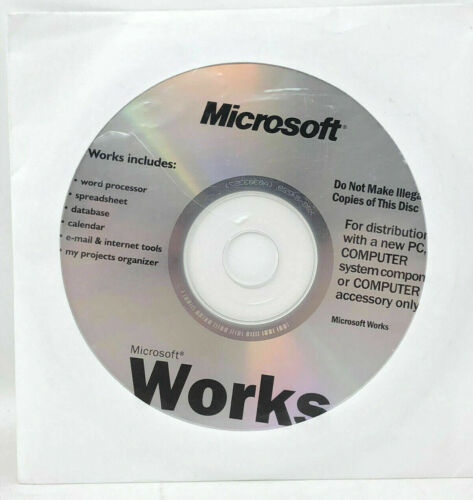 Microsoft Works 9 Retail Full Version CD