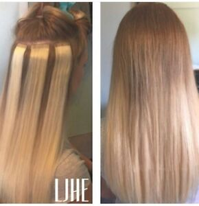 CERTIFIED HAIR EXTENSIONS!! HOT FUSION MICROLINK TAPE IN!