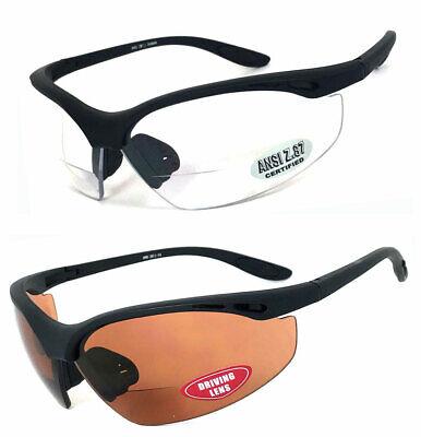Sicherheit Bifokale Lese Brille Klar oder Fahren Linse UV400 Ansi Z87.1+