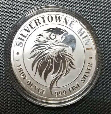 1 oz. SilverTowne Mighty Eagle .999 Silver New Strike! Free Shipping