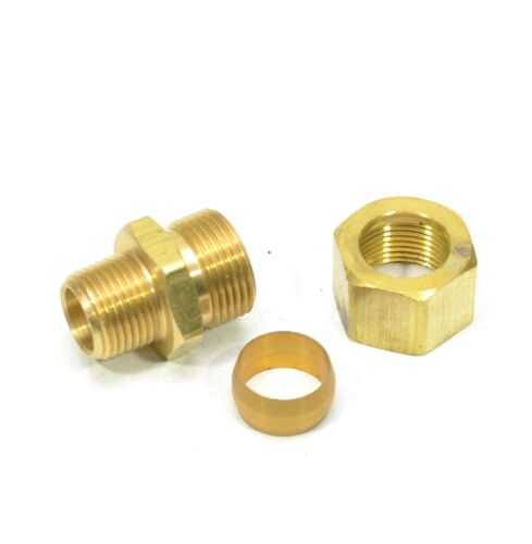 "5/8"" Tube OD Compression to 3/8"" Male NPT Fitting Adapter Connector"