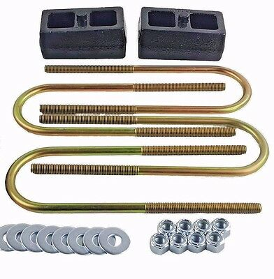 "Lift Kit Rear 2"" Cast Steel Blocks & U Bolts For 98-11 Ford Ranger Truck 4x4 4x2"