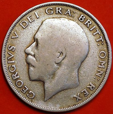 United Kingtom. ½ Crown 1922 - George V .Silver, KM# 818a