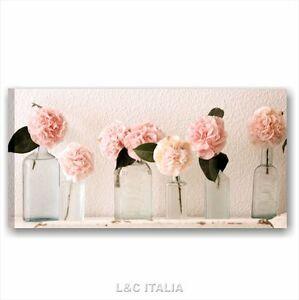Rose vintage 1 quadri moderni 90x45 stampa tela arredamento shabby chic fiori - Quadri cucina vintage ...