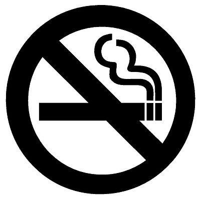No Smoking Vinyl Decal Sticker Window Wall Business Office Door Sign Symbol Home