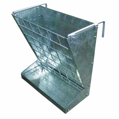 Little Giant Classic Galvanized Metal 2-in-1 Goat And Sheep Feeder Open Box