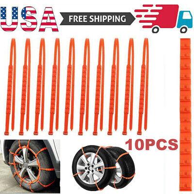 10PCS Wheel Tire Snow Anti-skid Chains for Car Truck SUV Emergency Universal USA