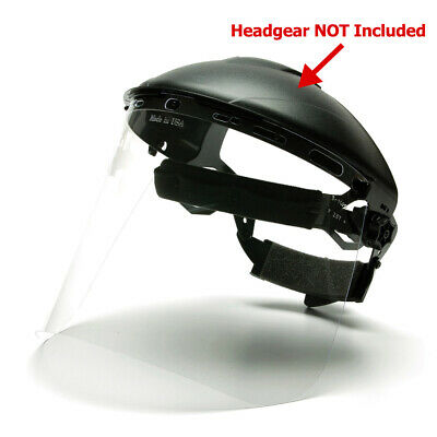 Pyramex S1010 Petg Replacement Face Shield - Clear Headgear Not Included