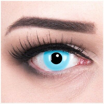 Crazy Fun Kontaktlinsen ohne Sehstärke hellblau Sky Angel für Halloween (Hellblaue Kontaktlinsen)