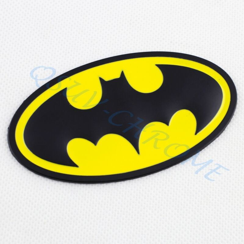 3D Car Motors Accessories Batman Badge Emblem Decal Sticker Decoration Parts