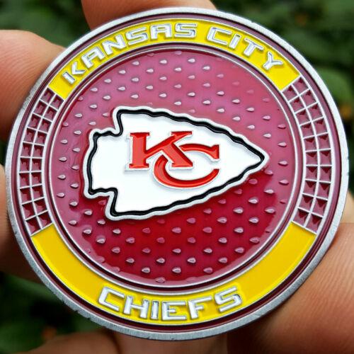 PREMIUM NFL Kansas City Chiefs Poker Card Guard Chip Protector Golf Marker Coin